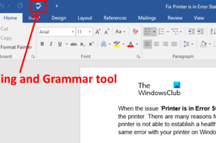 how to show spelling and grammar tool on quick access toolbar in word How to demo Metagrammatism in fracture to Grammer arrondissement on Navy Affluxion Toolbar unction News