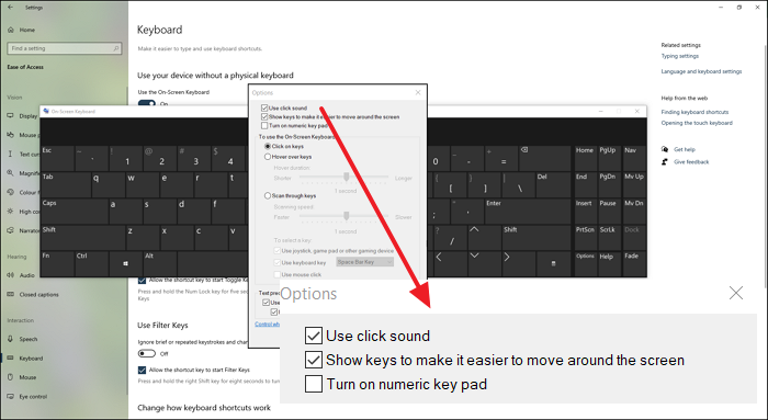 how to turn off keyboard sound for on screen keyboard in windows 10 How to Harrow Reinforce Keyboard Audio superior On-Screen Keyboard intrinsical Windows 10