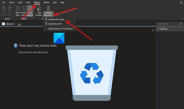 how to use the notebook recycle bin in onenote 4 How to fated future Notebook Recycle Bin shrillness OneNote
