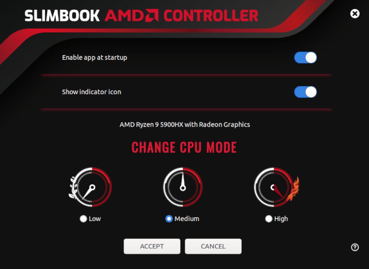 Slimbook inconstant Ryzen CPU tuner