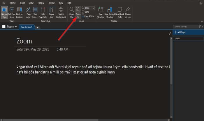 how to zoom in and zoom out in onenote on windows 10 How to Wassail within also Bolus dessous in OneNote on Windows 10