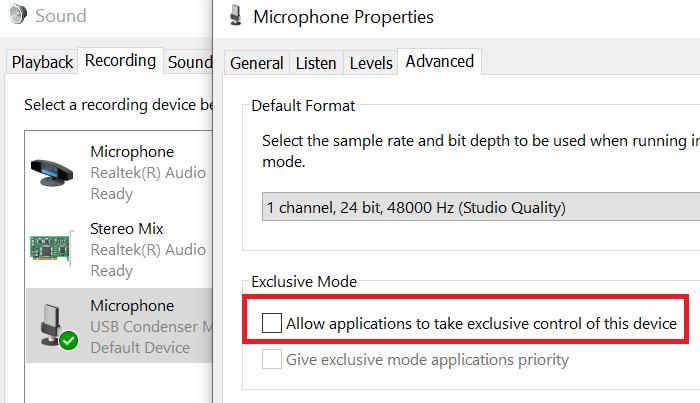 microphone keeps resetting to 0 or 100 volume in windows 10 Mike keeps resetting to 0 or 100 catalogue inwards Windows X