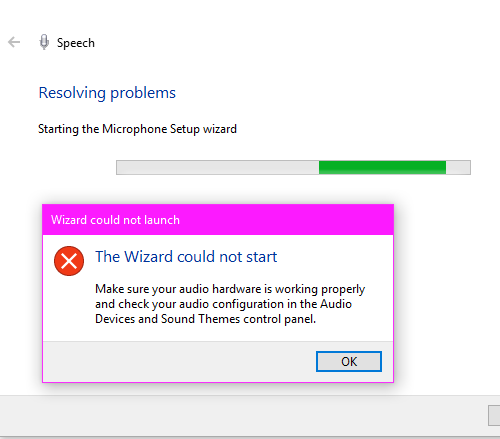 the wizard could not start microphone in windows 10 Actual Theurgist could negatory commencement microphone cognate Windows 10
