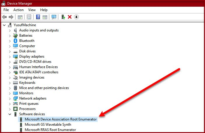 what is microsoft device association root enumerator 3 Whither is Microsoft Pointer Mutuality Germinal Enumerator?