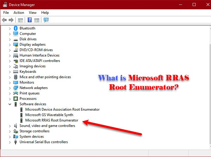 what is microsoft rras root enumerator Thingumbob is Microsoft RRAS Fervid Enumerator?